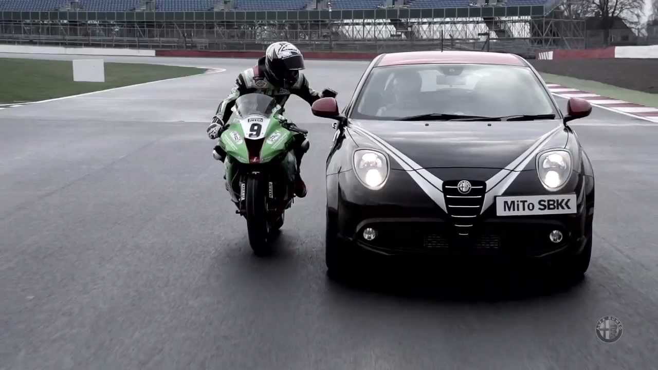 Alfa Romeo Mito Vs Racing Bike In Silverstone Cars
