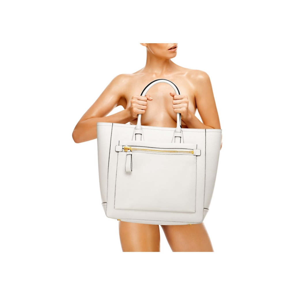 Tom Ford Tote Handbag Chalk