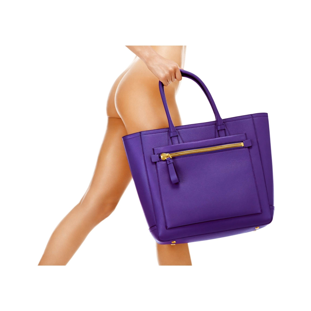 Tom Ford Tote Handbag Purple
