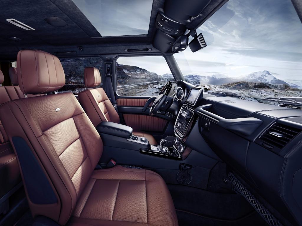 Mercedes-Benz G-Class (BR 463) 2015; G 500 Interieur: designo Nappaleder hellbraun interior: designo nappa leather light brown