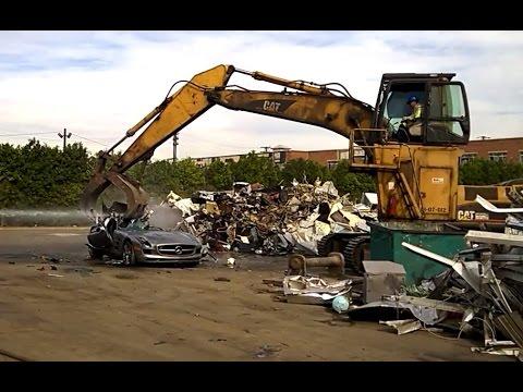Mercedes benz sls amg at scrap yard for Mercedes benz scrap yard