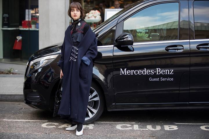 Mercedes-Benz London Fashion Week Street Style 2017